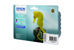 Epson originální ink C13T04874010, CMYK/light C/light M, 6x13ml, Epson Stylus Photo R200, 300, 320, 340, RX500, 600, 640, photo mu