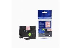 Kompatibilná páska s Brother TZ-232 / TZe-232, 12mm x 8m, červená tlač / biely podklad