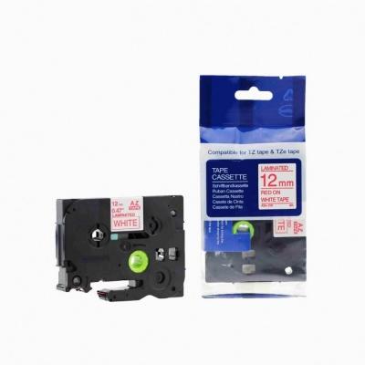 Kompatibilní páska s Brother TZ-232 / TZe-232, 12mm x 8m, červený tisk / bílý podklad