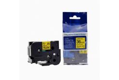 Kompatibilní páska s Brother TZ-661 / TZe-661, 36mm x 8m, černý tisk / žlutý podklad