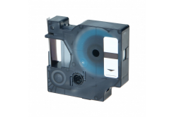 Kompatibilní páska s Dymo D1 43610, S0720770, 6mm x 7m, černý tisk / průhledný podklad