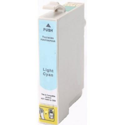 Epson T0485 světle azurová (light cyan) kompatibilní cartridge