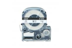Epson LC-SS9KW, 9mm x 8m, černý tisk / bílý podklad, kompatibilní páska