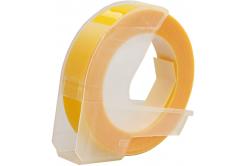 Dymo Omega, 9mm x 3m, bílý tisk / žlutý podklad, kompatibilní páska