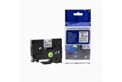 Kompatibilná páska s Brother TZ-211 / TZe-211, 6mm x 8m, čierna tlač / biely podklad