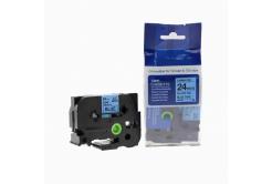 Kompatibilná páska s Brother TZ-551 / TZe-551, 24mm x 8m, čierna tlač / modrý podklad