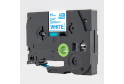 Kompatibilní páska s Brother TZ-FX233 / TZe-FX233, 12mm x 8m, flexi, modrý tisk / bílý pod