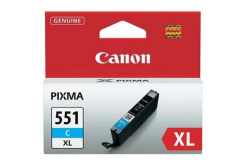 Canon CLI-551XLC azurová (cyan) originální cartridge