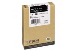 Epson T613800 matně černá (matte black) originální cartridge