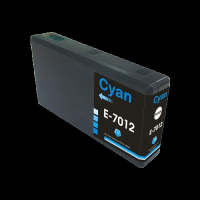 Epson T7012 azurová (cyan) kompatibilní cartridge
