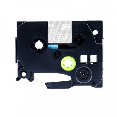 Kompatibilní páska s Brother TZ-165 / TZe-165, 36mm x 8m, bílý tisk / průhledný podklad