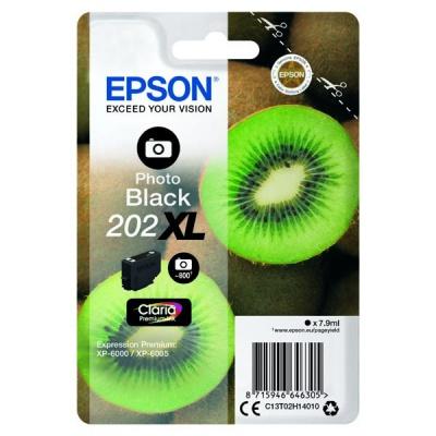 Epson 202XL T02H14010 foto černá (photo black) originální cartridge, výprodej