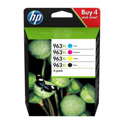HP 963XL 3YP35AE Bk+C+M+Y sada originální cartridge
