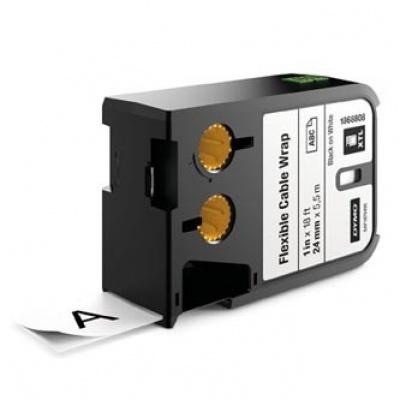 Dymo XTL 1868808, 24mm x 5,5m, černý tisk/bílý podklad, originální páska