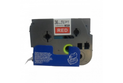 Kompatibilní páska s Brother TZ-465 / TZe-465, 36mm x 8m, bílý tisk / červený podklad