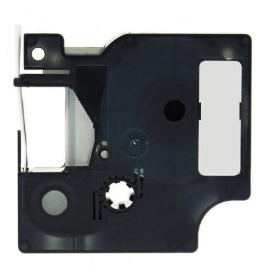 Kompatibilní páska s Dymo 18443, 9mm x 5, 5m černý tisk / bílý podklad, vinyl