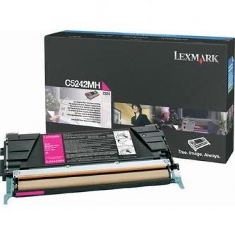 Lexmark C5242MH purpurowy (magenta) toner oryginalny