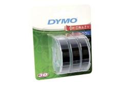 Dymo S0847730, 9mm x 3m bílý tisk / černý podklad, 3ks, originální páska
