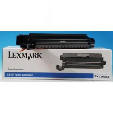 Lexmark 12N0768 azuriu (cyan) toner original