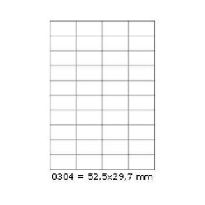 Samolepicí etikety 52,5 x 29,7 mm, 40 etiket, A4, 100 listů