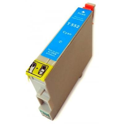 Epson T0552 azurová (cyan) kompatibilní cartridge