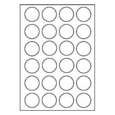 Samolepicí etikety 45 x 45 mm, 24 etiket, A4, 100 listů