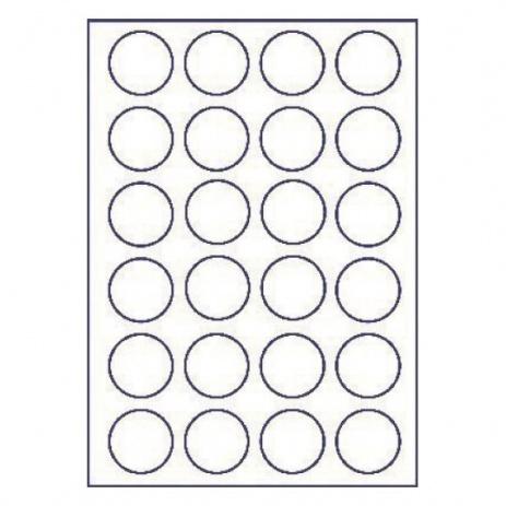Etichete autoadezive 45 x 45 mm, 24 de etichete, A4, 100 coli