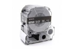 Epson LC-SD36KW, 36mm x 8m, bílý tisk / černý podklad, kompatibilní páska
