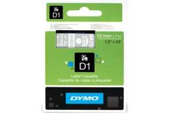Dymo D1 45020, S0720600, 12mm x 7m bílý tisk / průhledný podklad, originální páska