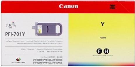 Canon PFI-701Y sárga (yellow) eredeti tintapatron