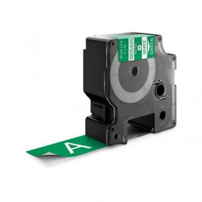 Kompatibilní páska s Dymo 1805426, 24mm x 5, 5m bílý tisk / zelený podklad, vinyl