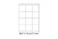 Samolepicí etikety 70 x 67,7 mm, 12 etiket, A4, 100 listů