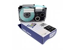 Kompatibilní páska s Casio XR-12SR1 12mm x 8m černý tisk / stříbrný podklad