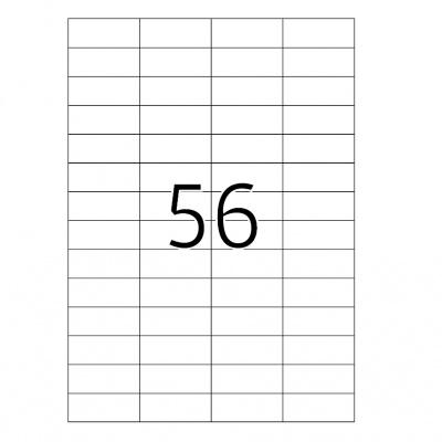 Samolepicí etikety 52,5 x 21,2 mm, 56 etiket, A4, 100 listů