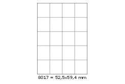 Samolepicí etikety 52,5 x 59,4 mm, 20 etiket, A4, 100 listů