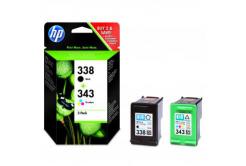 HP 338 + HP 343 SD449EE sada originální cartridge