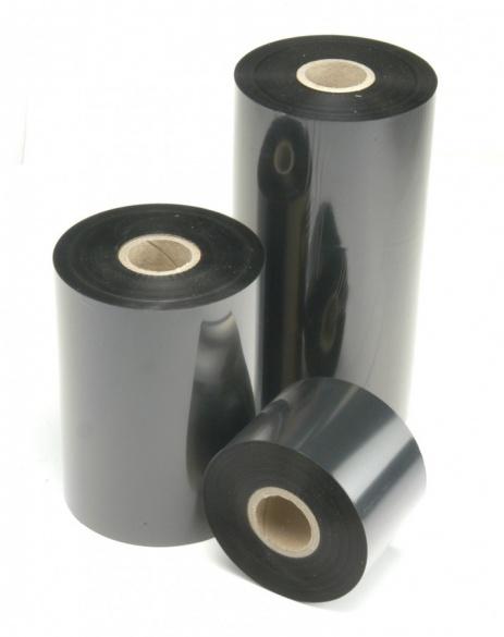 """TTR taśma, voskovo-pryskyřičná (wax-resin) 59mm x 74m, 1 / 2"""", OUT czarny"""
