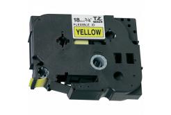 Kompatibilní páska s Brother TZ-FX641/TZe-FX641 18mm x 8m, flexi, černý tisk/žlutý podklad