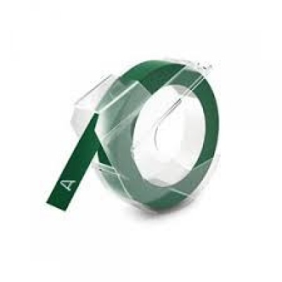 Kompatibilní páska s Dymo S0898160, 9mm x 3m, bílý tisk / zelený podklad