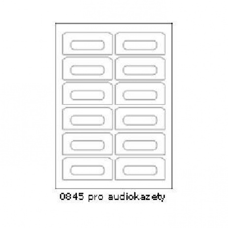 Selfadhesive labels 90 x 40 mm, 12 labels, A4, 100 sheets