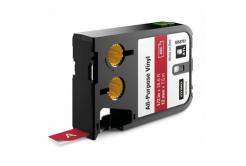 Dymo 1868761, 12mm x 7m, fehér nyomtatás / piros alapon, eredeti szalag