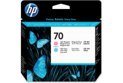 HP č.70, C9405A světlá azurová/světlá purpurová (light cyan/light magenta) originální tisková hlava