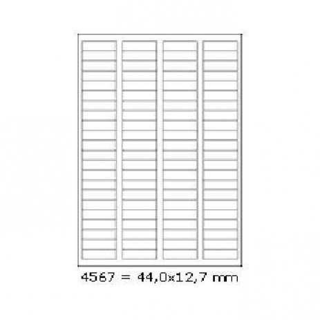 Selfadhesive labels 44 x 12,7 mm, 88 labels, A4, 100 sheets