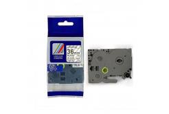 Kompatibilní páska s Brother TZ-161 / TZe-161, 36mm x 8m, černý tisk / průhledný podklad
