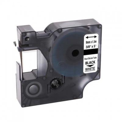 Kompatibilní páska s Dymo 18053, S0718280, 9mm x 1, 5m černý tisk / bílý podklad