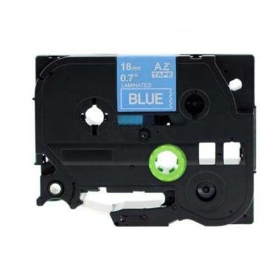 Kompatibilní páska s Brother TZ-545 / TZe-545, 18mm x 8m, bílý tisk / modrý podklad