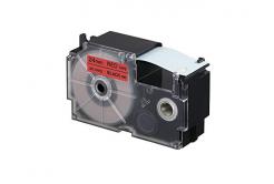 Kompatibilní páska s Casio XR-24RD1, 24mm x 8m, černý tisk / červený podklad