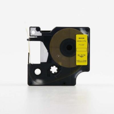 Kompatibilní páska s Dymo 53718, S0720980, 24mm x 7m, černý tisk / žlutý podklad