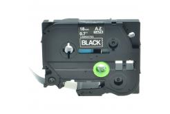 Kompatibilní páska s Brother TZ-S345/TZe-S345 18mm x 8m extr.adh. bílý tisk/černý podklad