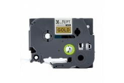 Kompatibilní páska s Brother TZ-861 / TZe-861, 36mm x 8m, černý tisk / zlatý podklad
